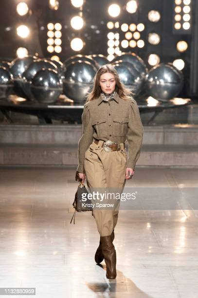 Model Gigi Hadid walks the runway during the Isabel Marant show as part of Paris Fashion Week Womenswear Fall/Winter 2019/2020 on February 28 2019 in...