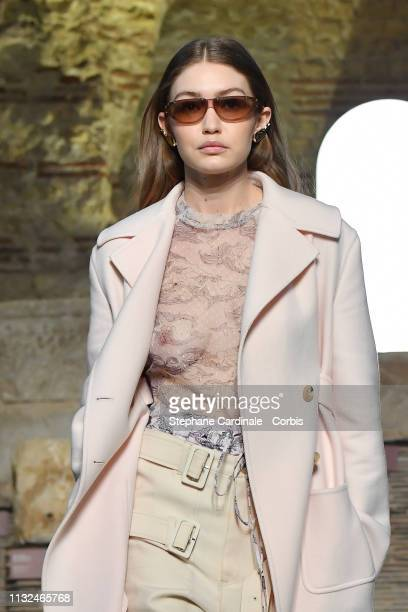 Model Gigi Hadid walks the runway during the Lanvin show as part of the Paris Fashion Week Womenswear Fall/Winter 2019/2020 on February 27 2019 in...