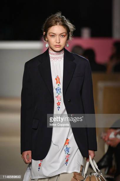 Model Gigi Hadid walks the runway during the Prada Resort 2020 Collection on May 02 2019 in New York City