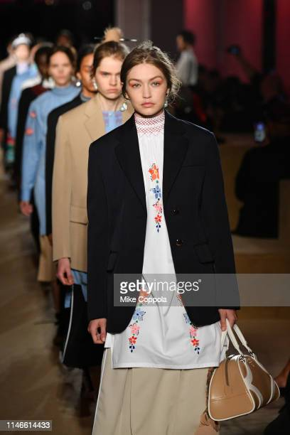 Model Gigi Hadid walks the runway during the Prada Resort 2020 Collection on May 02, 2019 in New York City.