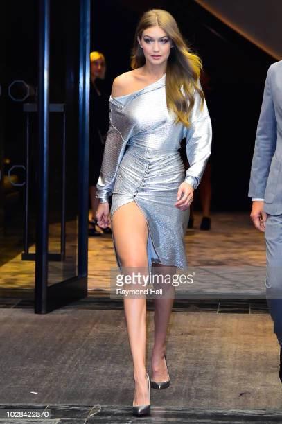 Model Gigi is seen walking in midtown on September 6 2018 in New York City