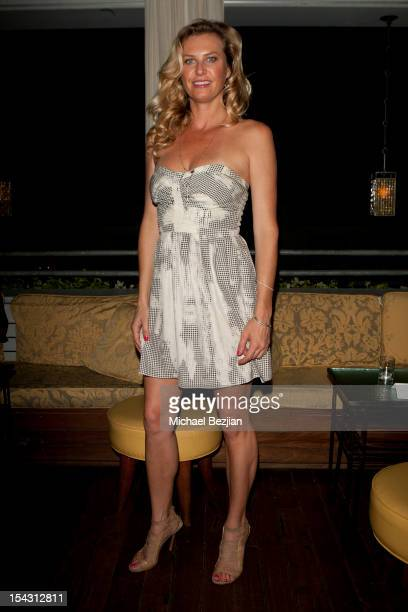 Model Gina Clarke attends Exceptional Children's Foundation Fundraising Gala at SkyBar at the Mondrian Los Angeles on October 17, 2012 in West...