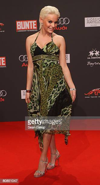 Model Gina Lisa Lohfink attends the New Faces Award on April 24, 2008 in Berlin, Germany.