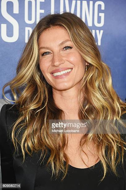 Model Gisele Bundchen attends National Geographic's Years Of Living Dangerously new season world premiere at the American Museum of Natural History...