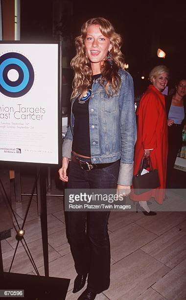 Model Gisele Bundchen attends the kickoff party to launch its Fashion Targets Breast Cancer charity shopping weekend September 19 2000 in New York NY...
