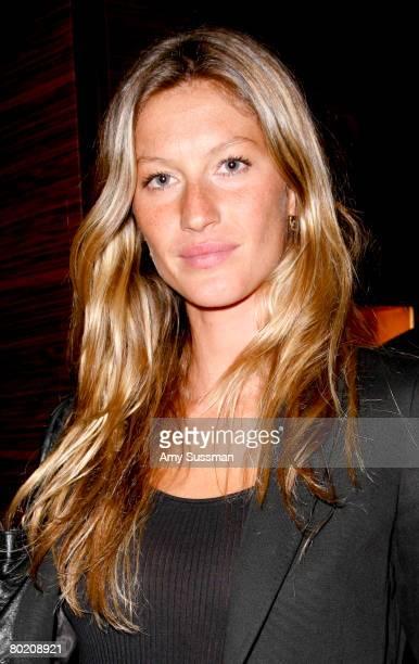 Model Gisele Bundchen attends the opening of Ermenegildo Zegna Global Store on 5th Avenue on March 11 2008 in New York City