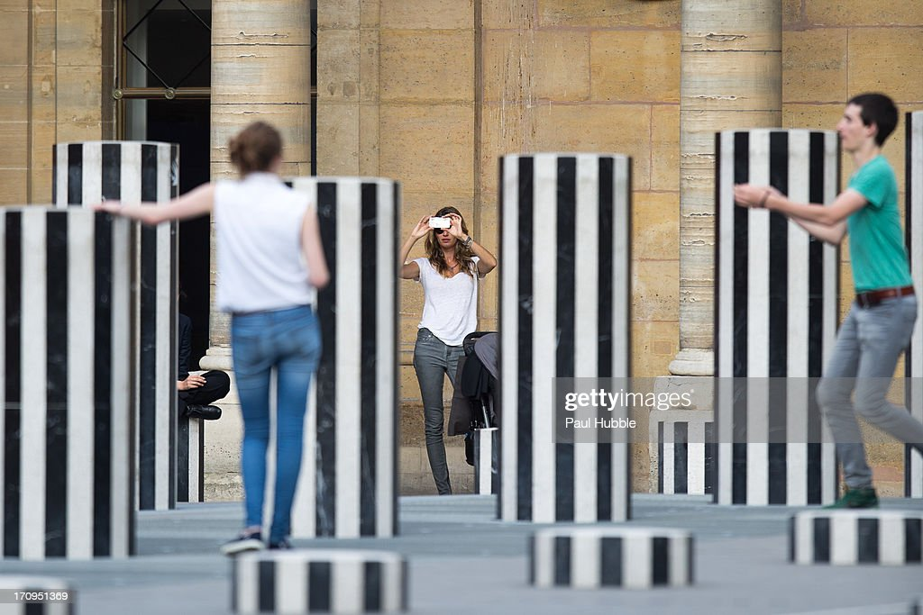 Model Gisele Bundchen is sighted at the Palais Royal on June 20, 2013 in Paris, France.