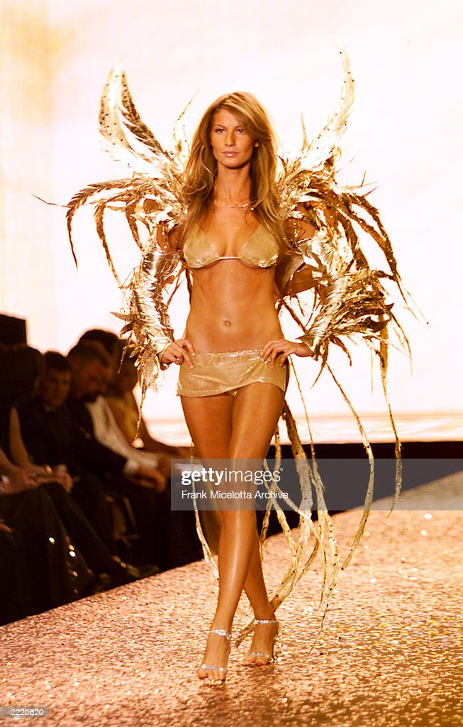 Model Gisele Bundchen on the runway at the Victoria's Secret fashion show benefit for amfAR, Cinema Against Aids 2000 at the Cannes Film Festival, 5/18/00
