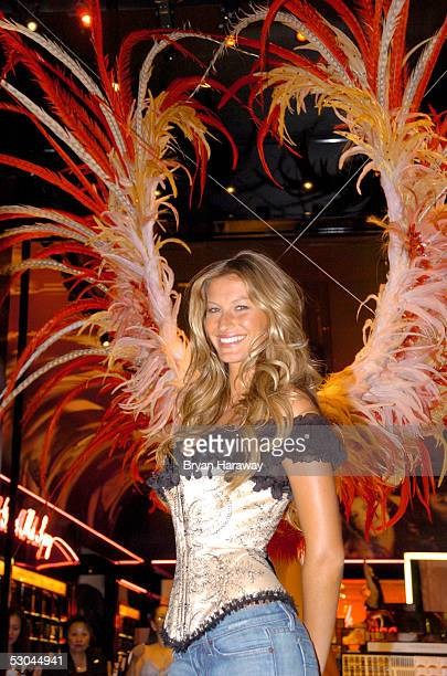 Model Gisele Bundchen presents the The Victoria's Secret Fashion Show Exhibit Ten Years of Sexy at the Forum Shops of Caesar's Palace June 9 2005 in...
