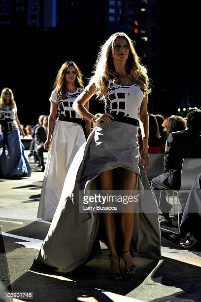 Model Gisele Bundchen walks the runway during Fashion's Night Out The Show at Lincoln Center on September 7 2010 in New York City
