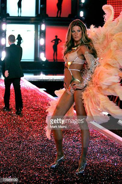 Model Gisele Bundchen walks the runway during the Victoria's Secret Fashion Show held at the Kodak Theatre on November 16 2006 in Hollywood...