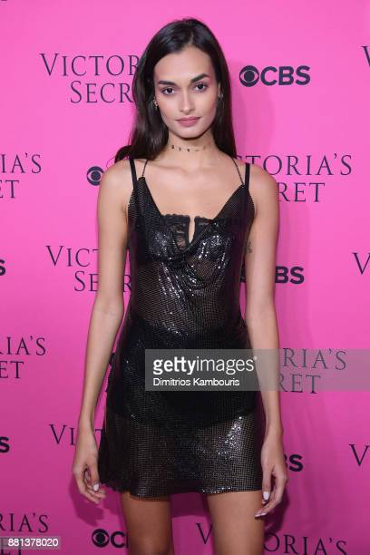 Model Gizele Oliveira attends as Victoria's Secret Angels gather for an intimate viewing party of the 2017 Victoria's Secret Fashion Show at Spring...
