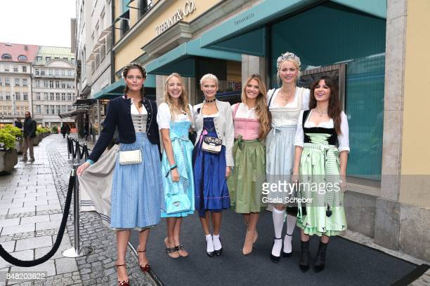 Model GNTM Vanessa Fuchs Leonie Hanne Darya Strelnikova Viviane Geppert Franziska Knuppe and Natalia Avelon during the Breakfast at Tiffany at...