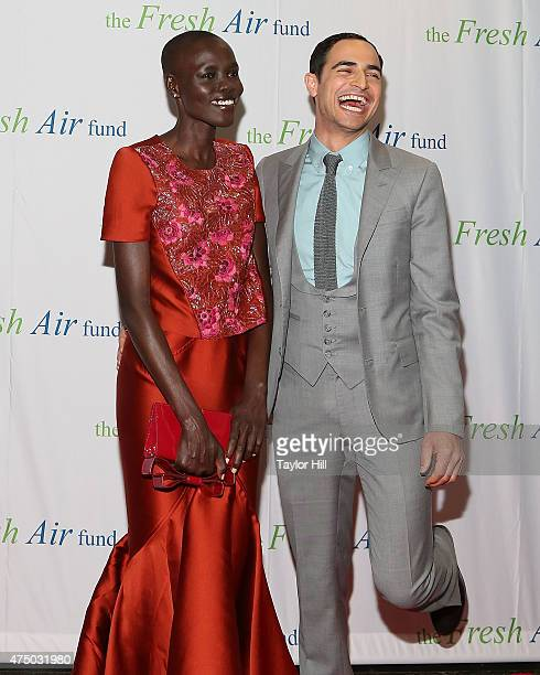 Model Grace Bol and designer Zac Posen attend the 2015 Fresh Air Fund's Salute to American Heroes at Pier Sixty at Chelsea Piers on May 28 2015 in...