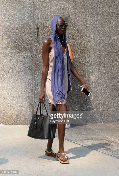 Model Grace Bol attends call backs for the 2017 Victoria's Secret Fashion Show in Midtown on August 22 2017 in New York City