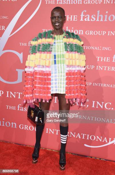 Model Grace Bol attends the 2017 FGI Night Of Stars Modern Voices gala at Cipriani Wall Street on October 26 2017 in New York City