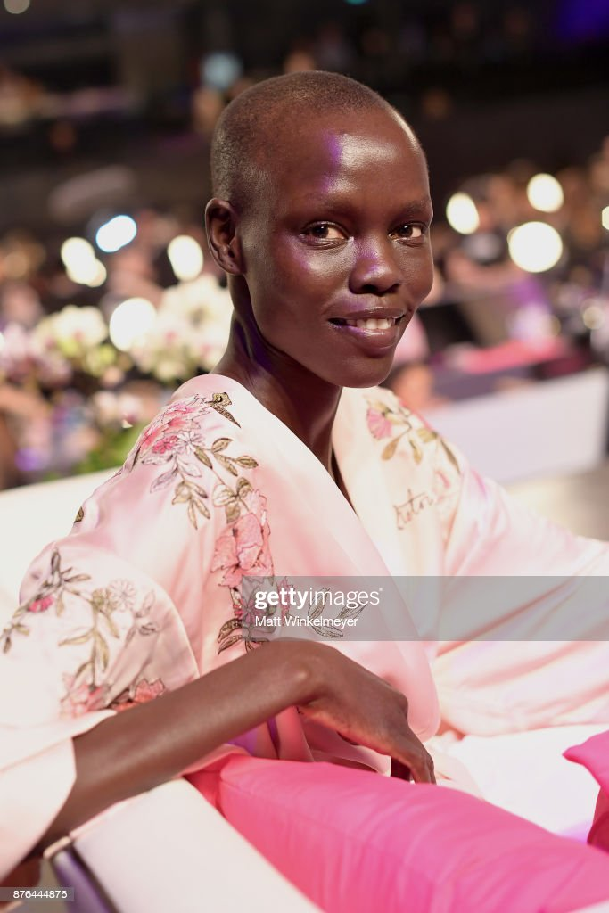 Model Grace Bol poses in Hair & Makeup during 2017 Victoria's Secret Fashion Show In Shanghai at Mercedes-Benz Arena on November 20, 2017 in Shanghai, China.
