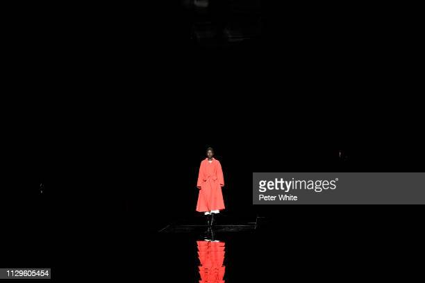 Model Grace Bol walks the runway at the Marc Jacobs fashion show during New York Fashion Week on February 13 2019 in New York City