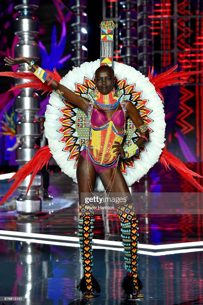 Model Grace Bol walks the runway during the 2017 Victoria's Secret Fashion Show In Shanghai at Mercedes-Benz Arena on November 20, 2017 in Shanghai, China.