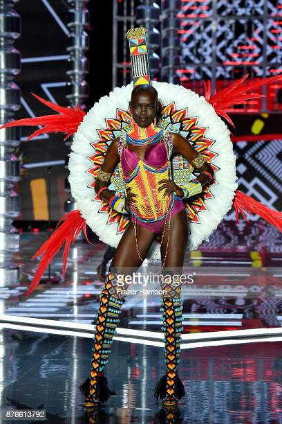 Model Grace Bol walks the runway during the 2017 Victoria's Secret Fashion Show In Shanghai at MercedesBenz Arena on November 20 2017 in Shanghai...