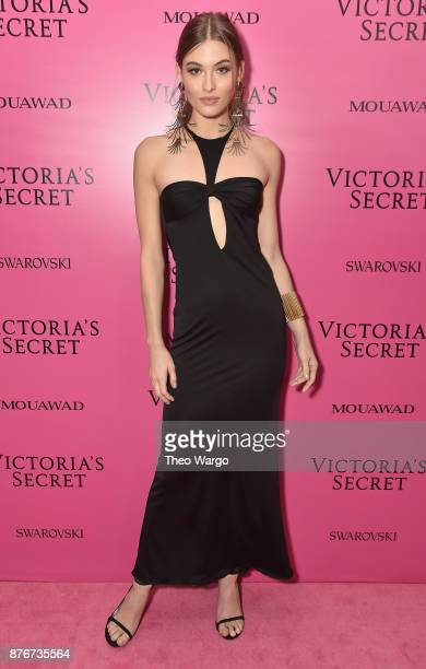 Model Grace Elizabeth attends the 2017 Victoria's Secret Fashion Show In Shanghai After Party at MercedesBenz Arena on November 20 2017 in Shanghai...