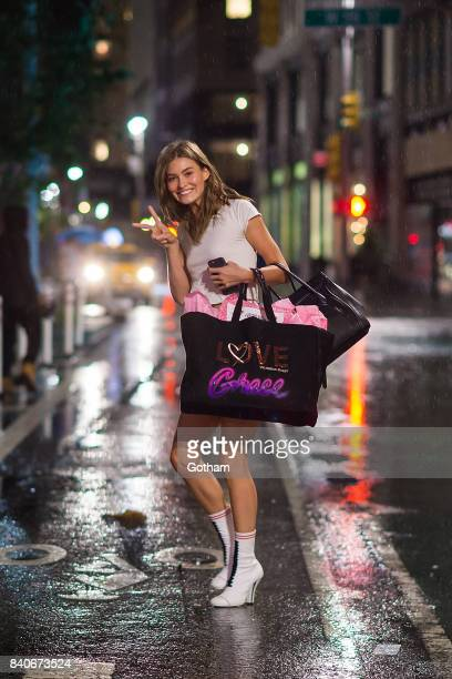 Model Grace Elizabeth is seen going to fittings for the 2017 Victoria's Secret Fashion Show in Midtown on August 29 2017 in New York City
