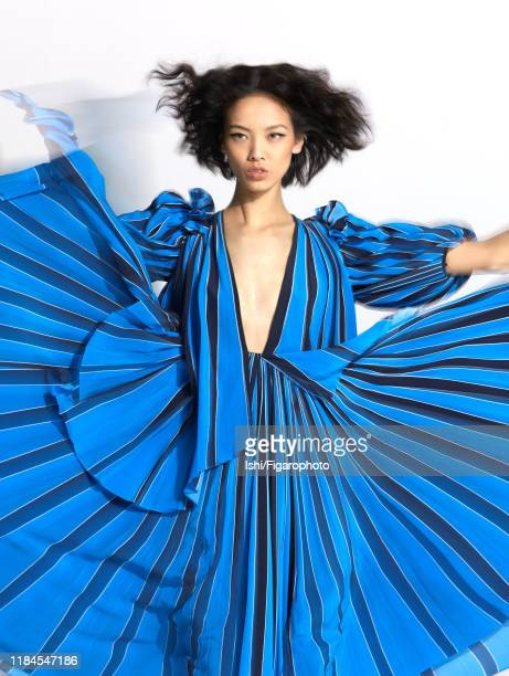 Model Grace Guozhi is photographed for Madame Figaro on December 5, 2017 in Paris, France. Dress . PUBLISHED IMAGE. CREDIT MUST READ:...