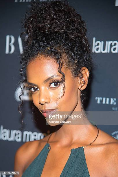 Model Grace Mahary attends Harper's BAZAAR Celebrates 'ICONS By Carine Roitfeld' at The Plaza Hotel on September 9 2016 in New York City