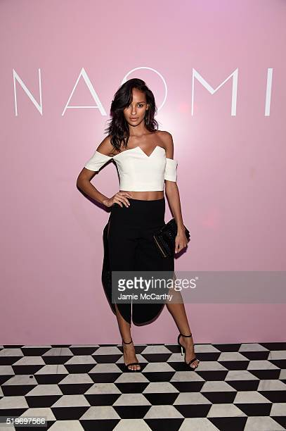 Model Gracie Carvalho attends as Marc Jacobs Benedikt Taschen celebrate NAOMI at The Diamond Horseshoe on April 7 2016 in New York City