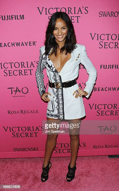Model Gracie Carvalho attends the 2015 Victoria's Secret Fashion Show after party at TAO Downtown on November 10 2015 in New York City