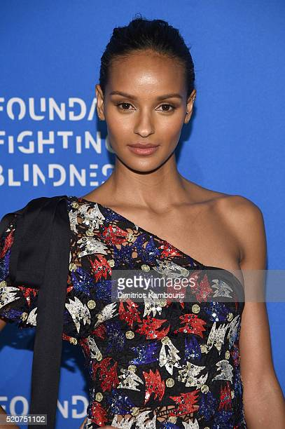 Model Gracie Carvalho attends the Foundation Fighting Blindness World Gala at Cipriani 42nd Street on April 12 2016 in New York City