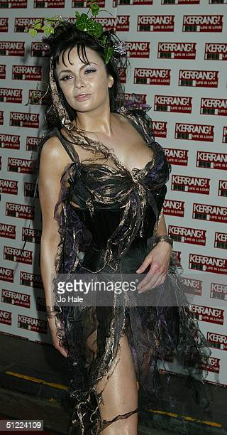 Model guest arrives at the 11th annual Kerrang Awards 2004 at the Carling Academy Brixton on August 26 2004 in London The music awards hosted by...