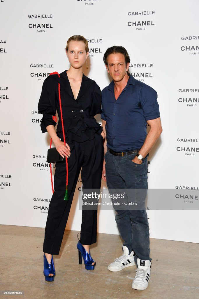 Model Guest attend the launching Party of Chanel's new perfume 'Gabrielle' as part of Paris Fashion Week on July 4, 2017 in Paris, France.