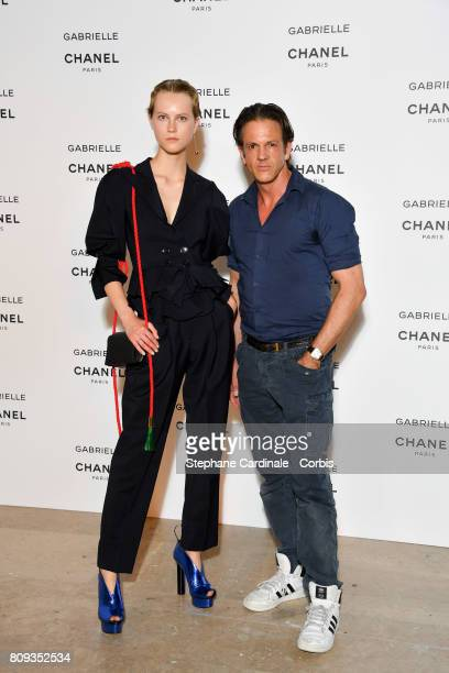 Model Guest attend the launching Party of Chanel's new perfume 'Gabrielle' as part of Paris Fashion Week on July 4 2017 in Paris France