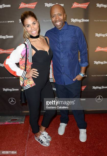 Model Gwendolyn Osborne and TV personality/former NBA player Kenny Smith at the Rolling Stone Live Houston presented by Budweiser and MercedesBenz on...