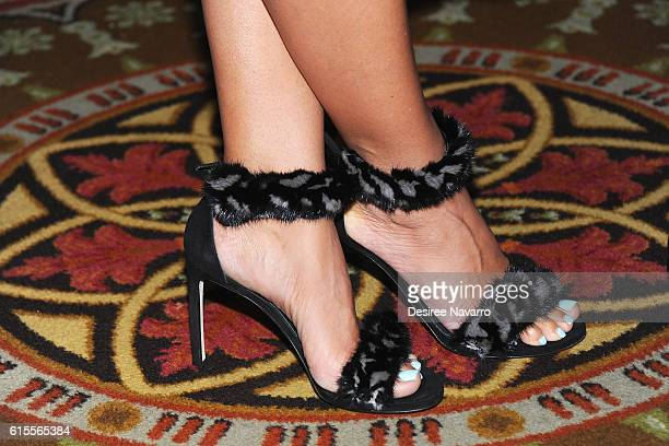 Model Gwendolyn Smith shoe detail attends the 2016 Broadcasting Cable Hall of Fame 26th Anniversary Gala at The Waldorf Astoria on October 18 2016 in...