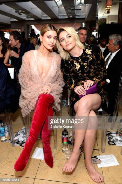 Model Hailey Baldwin and honoree Paris Jackson attend the Daily Front Row's 3rd Annual Fashion Los Angeles Awards at Sunset Tower Hotel on April 2...
