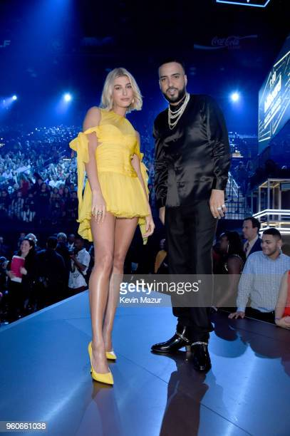 Model Hailey Baldwin and recording artist French Montana attend the 2018 Billboard Music Awards at MGM Grand Garden Arena on May 20 2018 in Las Vegas...