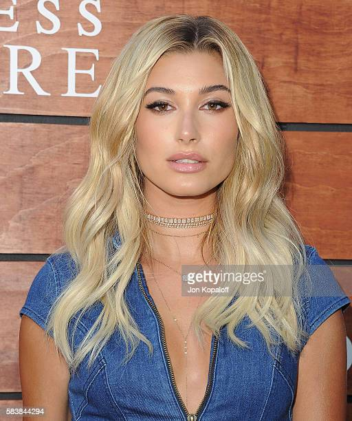 Model Hailey Baldwin arrives at GUESS Dare Double Dare Fragrance Launch at Ysabel on July 27 2016 in West Hollywood California