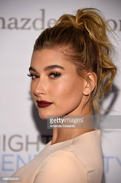 Model Hailey Baldwin arrives at the 7th Annual 'Night Of Generosity' Gala at the Beverly Wilshire Four Seasons Hotel on November 6 2015 in Beverly...
