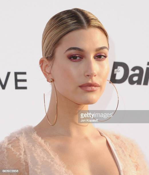 Model Hailey Baldwin arrives at the Daily Front Row's 3rd Annual Fashion Los Angeles Awards at the Sunset Tower Hotel on April 2 2017 in West...
