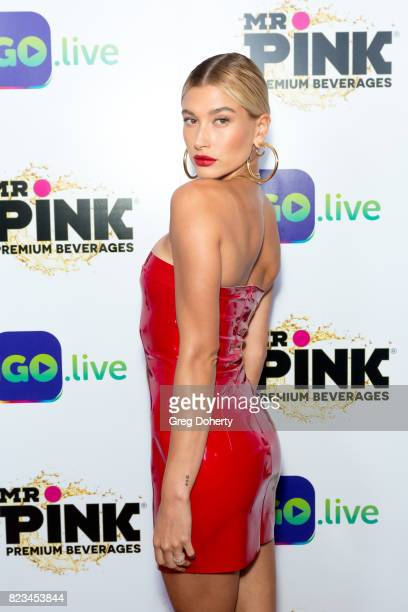 Model Hailey Baldwin arrives for the iGolive Launch Event at the Beverly Wilshire Four Seasons Hotel on July 26 2017 in Beverly Hills California