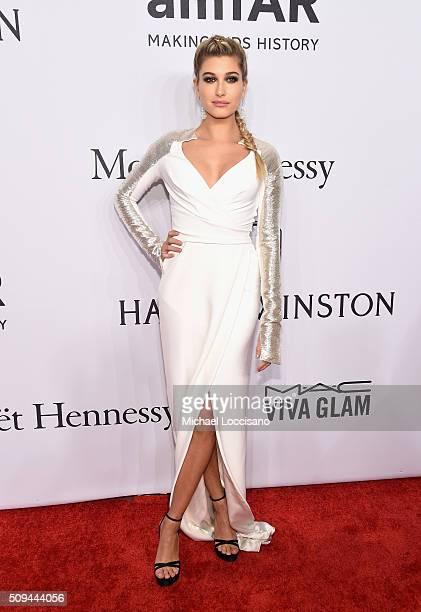 Model Hailey Baldwin attends 2016 amfAR New York Gala at Cipriani Wall Street on February 10 2016 in New York City