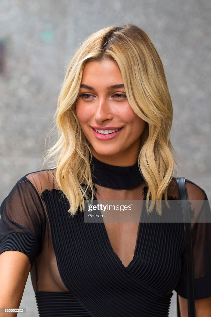 Model Hailey Baldwin attends call backs for the 2017 Victoria's Secret Fashion Show in Midtown on August 21, 2017 in New York City.