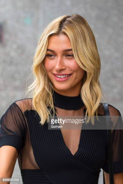 Model Hailey Baldwin attends call backs for the 2017 Victoria's Secret Fashion Show in Midtown on August 21 2017 in New York City