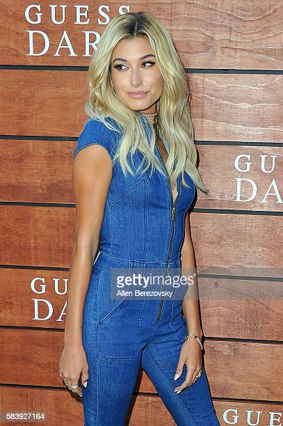 Model Hailey Baldwin attends GUESS Celebration Launch of Dare Double Dare Fragrance at Ysabel on July 27 2016 in West Hollywood California
