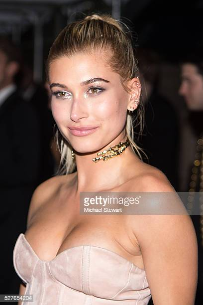 """Model Hailey Baldwin attends """"Manus x Machina: Fashion in an Age of Technology"""" Costume Institute Gala Balmain after party at Gilded Lily on May 2,..."""