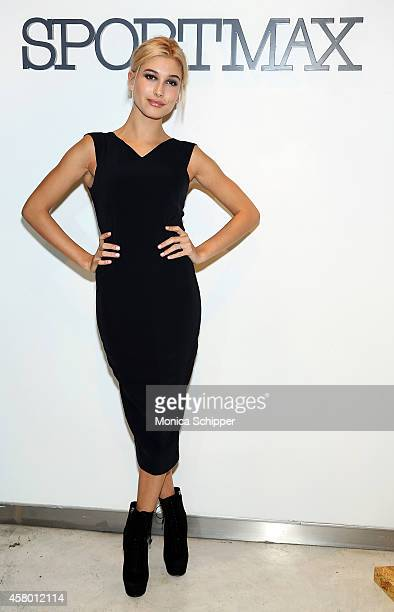 Model Hailey Baldwin attends Sportmax and Teen Vogue Celebrate The Fall/Winter 2014 Collection at Sportmax on October 28 2014 in New York City
