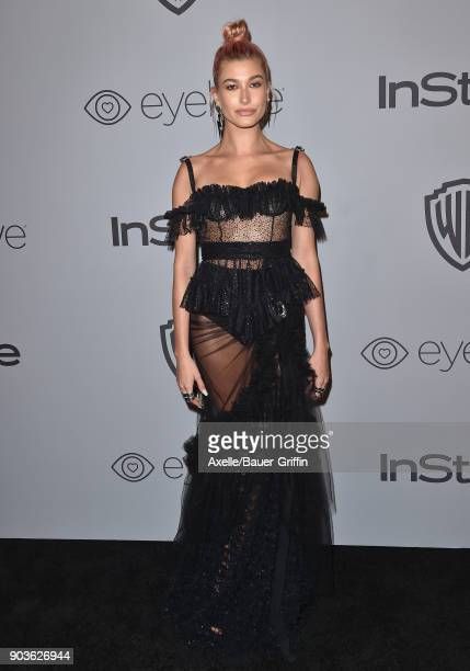 Model Hailey Baldwin attends the 19th Annual PostGolden Globes Party hosted by Warner Bros Pictures and InStyle at The Beverly Hilton Hotel on...
