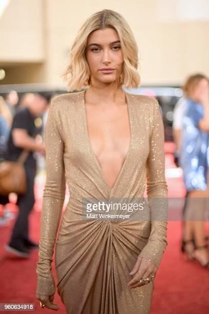 Model Hailey Baldwin attends the 2018 Billboard Music Awards at MGM Grand Garden Arena on May 20 2018 in Las Vegas Nevada